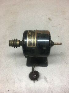 Antique C e Marshall Little Giant Watchmakers Lathe Motor W pulley Speed Control