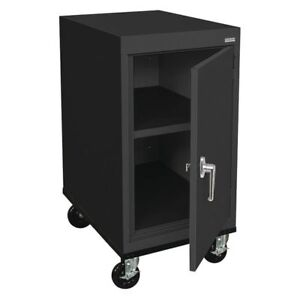 Mobile Storage Cabinet Welded Black Sandusky Ta11182430 09