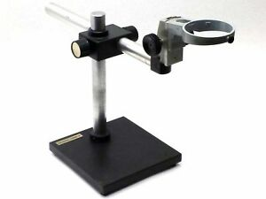 Bausch Lomb B l Heavy Duty Lab Microscope Boom Weighted Base Stand Boomstand