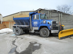 1990 L8000 W New 10 Fisher Plow Reliable Clean Auger Salter