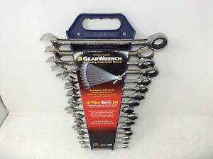 Closeout Gearwrench 9416 16 Piece Metric Combination Ratcheting Wrench Set