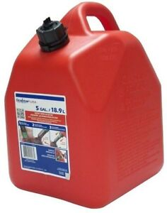 Gas Can 5 Gallon Epa And Carb Spout Fuel Tank Plastic Automatic Locking Airtight