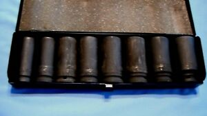 3 4 Drive Deep Well Socket Set Pittsburgh 8 Piece Large 13 16 1 1 2 Excellent