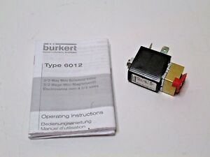 Burkert 6012 3 2 Way Mini Solenoid Valve 110 Volt 50hz 4w Free Shipping