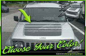 Jeep Liberty Arctic Style Hood Stripe Decal 2008 2009 2010 2011 2012 2013 2