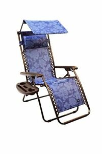 Bliss Hammocks Gravity Free Lounger With Canopy Pillow Deluxe Armrest New
