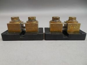 Lot Of 2 Janco Ms91587 2 Meter Shunts 50 Mv 200 Amp New