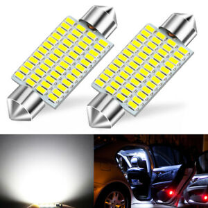 2x 42mm White 3014 48 Smd Led Car Interior Map Dome Light Bulb 578 569 212 2