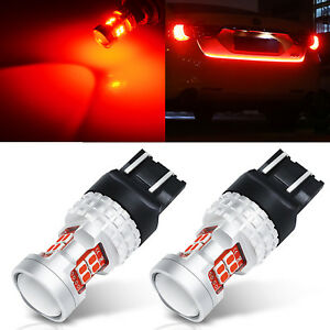 Jdm Astar 2x 7443 7440 Red 3020 Smd Led Turn Signal Brake Tail Light Bulbs