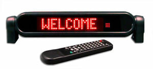 12v Red 7x50 Remote Programmable Scrolling Led Message Sign For Car
