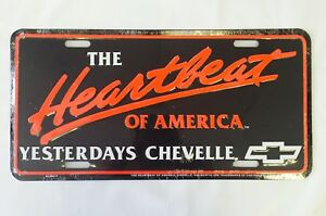 67 68 69 Chevelle Front Rear Bumper License Plate Sign Metal Embossed New H Beat