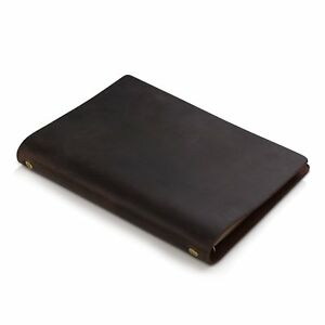 7felicity Classic Writing Business Notebook leather Cover 9 X 6 5 refillable