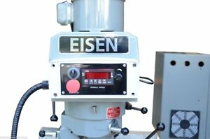 Eisen S 2ah evs 3hp Milling Head With Yaskawa Vfd R8 Taper For Bridgeport Mill