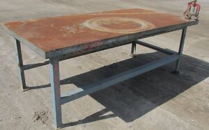 Steel Work Bench Welding Table Pipe Vise 4 x8 x35 1 2 2482wvs