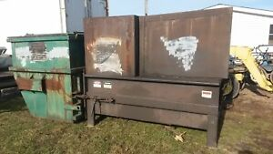 Mcclain Hydraulic Trash Compactor Container Dumpster Self Contained Recycling