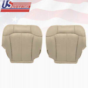 2000 2001 2002 Chevy Tahoe Suburban Driver Passenger Bottom Vinyl Seat Cover Tan