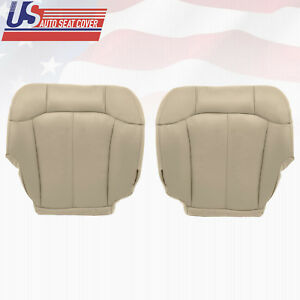 2000 2001 2002 Chevy Suburban 2500 Driver Passenger Bottom Vinyl Seat Cover Tan