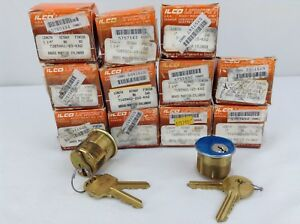 Lot Of 11 Ilco Unican Mortise Cylinder Key Lock Missing 2 Keys