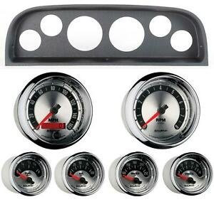 60 63 Chevy Truck Black Dash Carrier W Auto Meter American Muscle Gauges