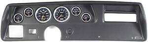 70 72 Chevelle Ss Black Dash Carrier W Auto Meter Cobalt Gauges
