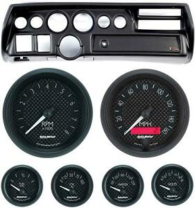 70 72 Chevelle Ss Black Dash Carrier W Auto Meter Gt Gauges