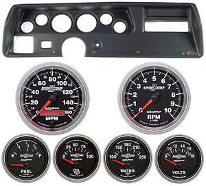 70 72 Chevelle Ss Black Dash Carrier W Auto Meter Sport Comp Ii Gauges