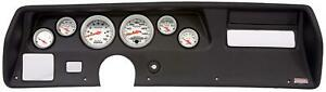 70 72 Chevelle Ss Black Dash Carrier W Auto Meter Ultra Lite Electric Gauges