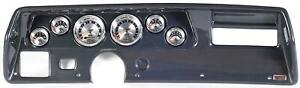70 72 Chevelle Ss Carbon Dash Carrier W Auto Meter American Muscle Gauges