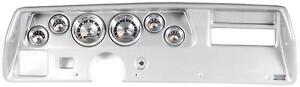 70 72 Chevelle Ss Silver Dash Carrier W Auto Meter American Muscle Gauges