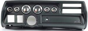 70 72 Chevelle Sweep Black Dash Carrier W Auto Meter American Muscle Gauges