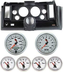 69 Camaro Black Dash Carrier W Auto Meter C2 5 Gauges