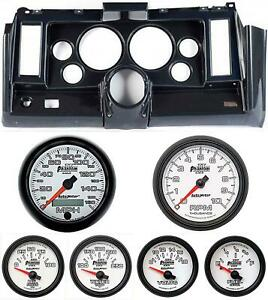 69 Camaro Carbon Dash Carrier W Auto Meter Phantom Ii 5 Gauges