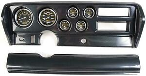 70 72 Gto Carbon Dash Carrier W Auto Meter Carbon Fiber Gauges