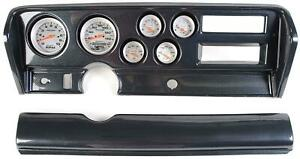 70 72 Gto Carbon Dash Carrier W Auto Meter Ultra Lite Electric Gauges