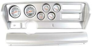 70 72 Gto Silver Dash Carrier W Auto Meter Ultra Lite Electric Gauges