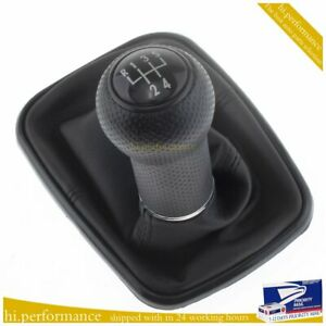 5 Speed Shift Knob Gaitor Boot For Vw Mk4 Golf Gti R32 Jetta Bora 1j0711113c