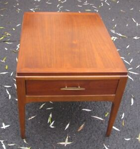 Rare Mid Century Lane Single Drawer Walnut End Table Stand Style 997 02
