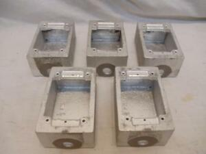 Lot Of 5 Pyle National F 30 fs 1 2 Malleable Cast Iron Electrical Box Enclosure