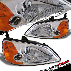 2001 2002 2003 Honda Civic Sedan Coupe Dx Lx Ex Factory Style Chrome Headlight