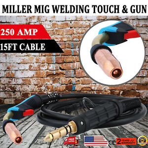 169598 M 25 Miller Mig Welding Gun Torch Stinger 250a 15 Feet Replacement Parts