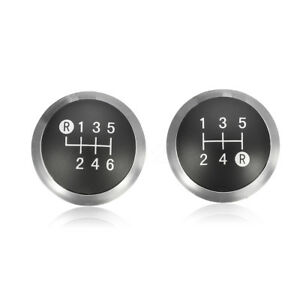 5 6 Speed Gear Shift Knob Chrome Cap Top Insert For Toyota Avensis 33624 09010