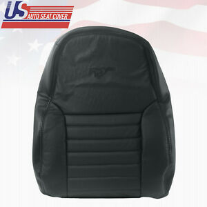 2003 2004 Ford Mustang Gt Coupe Driver Lean Back Perforated Leather Cover Black