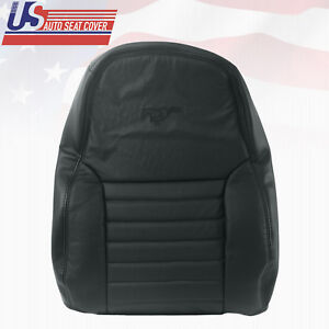 1999 2000 Ford Mustang Gt Coupe Driver Lean Back Perforated Leather Cover Black