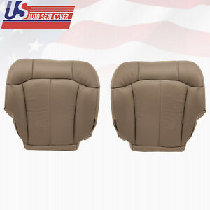 1999 2000 Chevy Silverado 1500 2500 Driver passenger Bottom Vinyl Seat Cover Tan