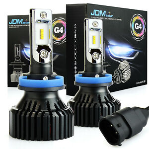 Jdm Astar G4 8000lm H9 Aec Led Headlight High Beam Bulb Xenon White 6000k 64w 2p