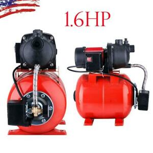 1 6 Hp Electric Booster Pump 1200w 3500l h Shallow Well Garden Water Pressure