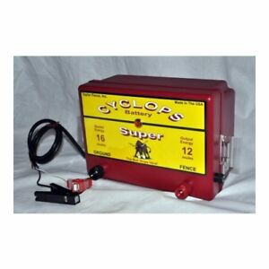Cyclops Super 12v Battery dc Powered 12 Joule Electric Fence Charger