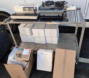 Onyx Od4012 Comb Wire Coil Spiral Punch Machine W Od4300 Coil Inserter More