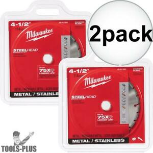 Milwaukee 49 93 7805 2pk 4 1 2 Steelhead Diamond Cut off Blade For Metal New
