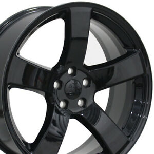 20 Fits Dodge Charger Style Wheels Black 20x8 Set Of 4 Rims Cp